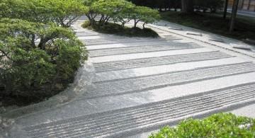 lined sand garden Japanese landscape design