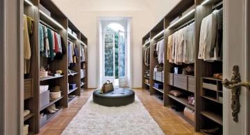 long walk in closet furniture