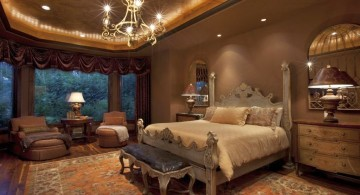 lovely tuscan bedroom furniture with chandelier