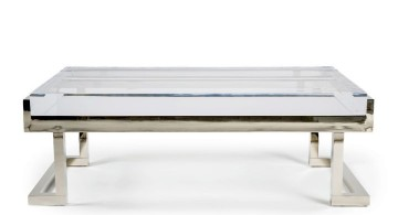 low acrylic cocktail table