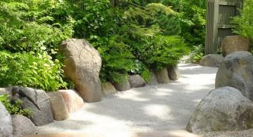 minimalist Japanese landscape design