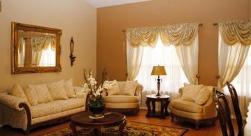 minimalist Tuscan living room decor