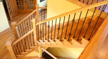 minimalist and modern wood staircase