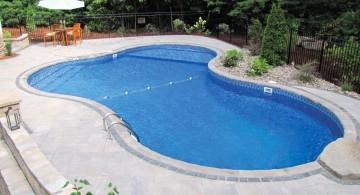 minimalist contemporary kidney shape pool