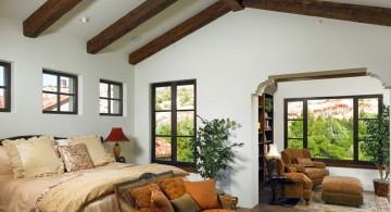 minimalist exposed beam ceiling