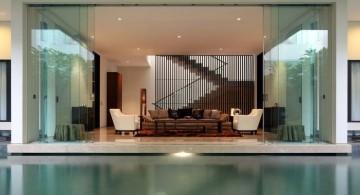 minimalist homes with indoor pools