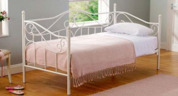 minimalist iron daybed pale pink bedding images