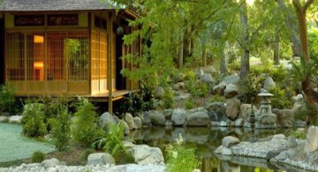 minimalist japanese garden designer with koi pond