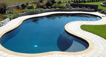 minimalist kidney shape pool
