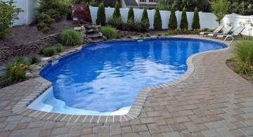 minimalist kidney shape pool for small yard