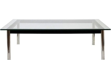 minimalist low acrylic cocktail table