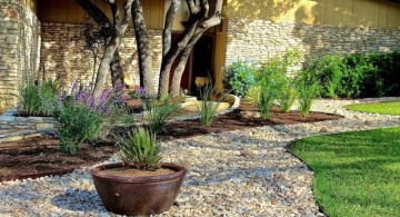 minimalist simple rock garden ideas