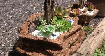 minimalist small rock garden designs