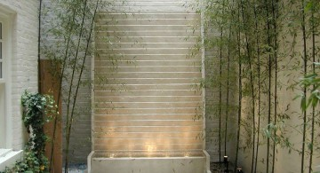 minimalist stone wall modern water features