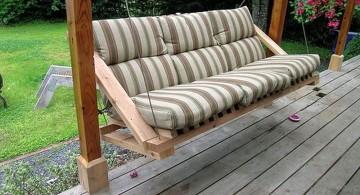 minimalist stripes Outdoor swinging beds