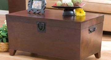 minimalist trunk coffee table