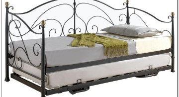 minimalist unique trundle beds with steel frame
