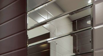 mirrored unique wall panels