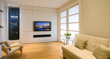modern built in TV