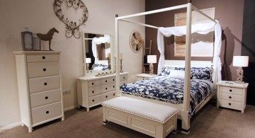 modern four poster bed for a girl bedroom