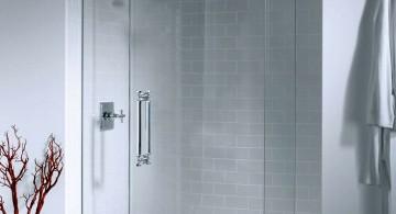 modern glass shower for small built in shower