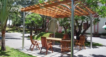 modern pergola kit with aluminium shafts