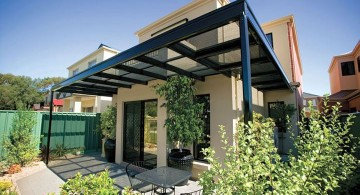 modern pergola kit with glass roof