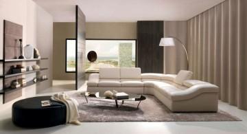 modern room arrangements with L shaped sofa