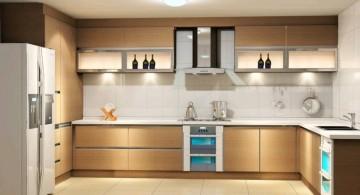 modular kitchen in cream