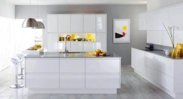 modular kitchen in white