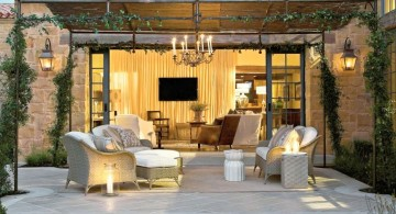 outdoor Tuscan living room decor