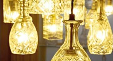 pendant light diy with decanter
