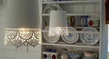 pendant light diy with old wastebasket