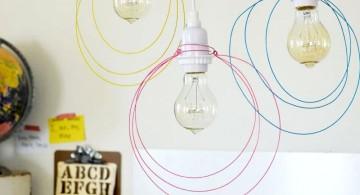 pendant light diy with strings