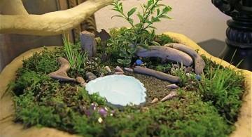 plush green mini japanese garden