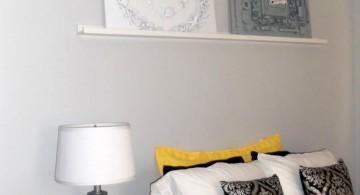plush yellow gray bedroom