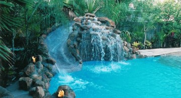 pools with waterfalls slides in