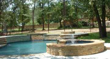 pools with waterfalls with spa