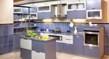 popular cabinet colors blue and white