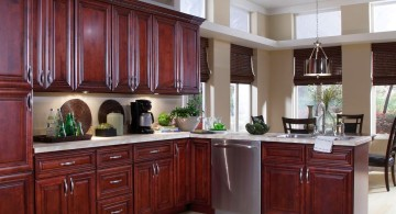 popular cabinet colors dark red lacquer