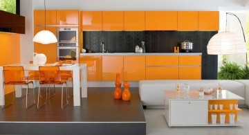 popular cabinet colors orange and black