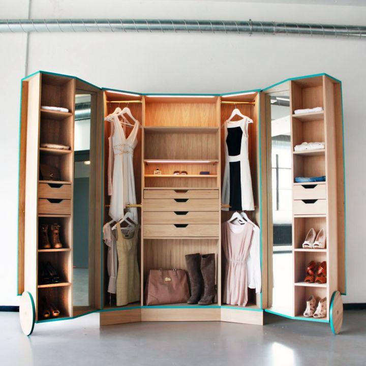 portable walk in closet furniture