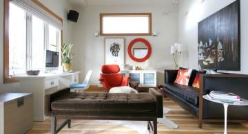 retro modern decor for small apartments