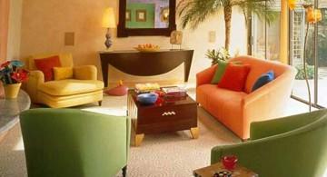 retro modern decor in earth tones