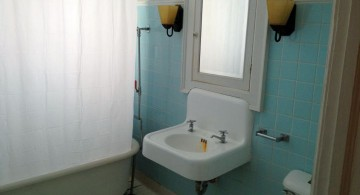 retro style floating sinks