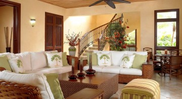 room arrangements with rattan sofa