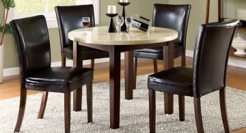 round with wooden legs granite dining room table