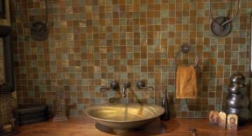 rustic Mexican wood bathroom