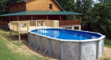 rustic above ground small pool ideas