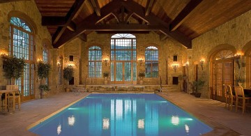 rustic homes with indoor pools